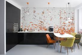 Wallpaper Designs For Kitchens by Vibrant Modern Kitchen Tile Backsplash Design Artaic