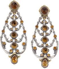 Citrine Chandelier Earrings Konstantino Cognac And Citrine Chandelier Earrings Earrings