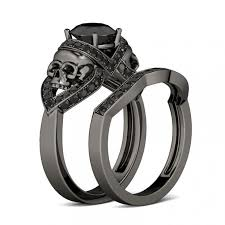 skull wedding rings black gold skull wedding ring set exceptional skull wedding ring