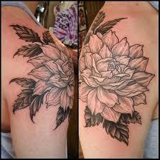 45 beautiful dahlia tattoos