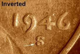 penny s 1946 s inverted mint mark