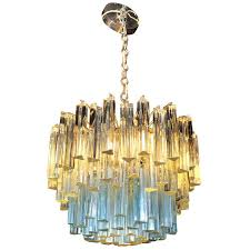 Murano Chandeliers Murano Glass Chandelier With White And Blue Crystals By Camer At