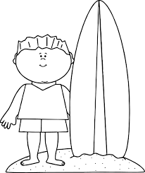 summer beach boy surfing coloring wecoloringpage