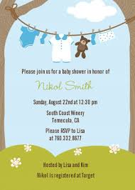 baby boy baby shower invitations clothesline it s a boy baby shower invitations candles and favors