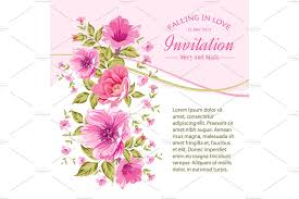 Size Invitation Card Invitation Card Template With Flower Card Templates Creative