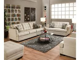 simmons upholstery 2057 contemporarty sofa with tufted cushions