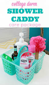 care package ideas for college students college shower caddy care package idea 4 real
