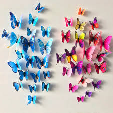 Butterfly Kitchen Decor 12 Pcs Lot Pvc 3d Diy Butterfly Wall Stickers Home Decor Poster