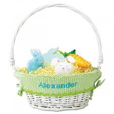 wicker easter baskets personalized wicker easter basket with green liner current catalog