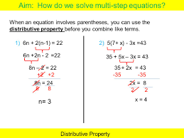 how to do multi step equations