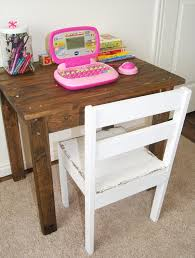 Diy Childrens Desk Diy Table And Chairs Marceladick