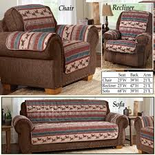Quilted Recliner Covers Quilted Western Mustang Furniture Cover From Collections Etc
