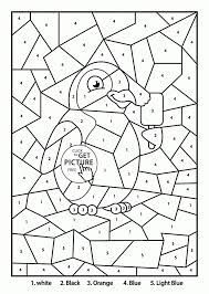 Penguin Coloring Pages Get This Penguin Coloring Pages Color By Number Free Printable 75209 by Penguin Coloring Pages