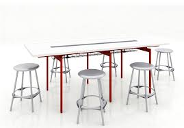 Bar Height Meeting Table Antenna Workspaces Standing Height Table Arenson Office Furnishings