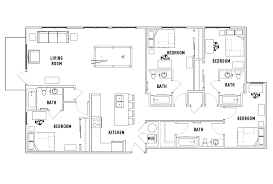 floor plans the standard at athens student housing athens ga