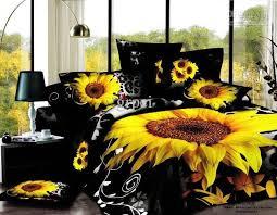 Tie Dye Comforter Set 3d Black Sunflower Flower Floral Bedding Comforter Set Sets Queen