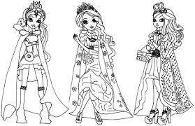ever after high coloring pages for kids download u0026 print online