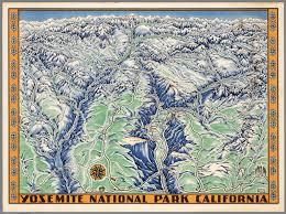 Map Of Yosemite Yosemite National Park California Della Hoss David Rumsey