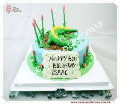 crocodile theme birthday cake animals