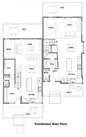 residential blueprints townhouse main floor plan interior comfortable townhouse main