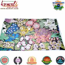 Cotton Wool Rugs Geometrical Design Indian Handcrafted Large Outdoor Cotton Wool