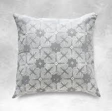 Square Sofa Pillows by Amazon Com Grey Boho Batik Pillow Cover 18 Inches Square