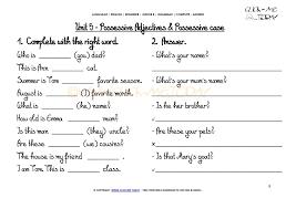 printable grammar worksheet c a possessive case u0027s u5