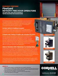 firegard retrofit fire door operators technical sheet cornell