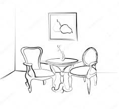 he sketch the room sketch parts of the room design a table and