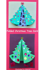 folded christmas tree craft for kids