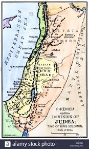 Judea Map Phoenicia And Judea In The Time Of King Solomon 10th Century Bc