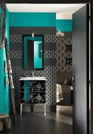 Colors That Go With Dark Grey | dark grey and teal beautiful different for a bathroom