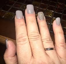 my u0027wood lake u0027 gel acrylic nails w gold glitter design yelp