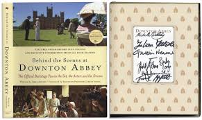 lot detail downton signed book dvd lot with