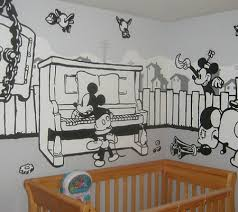 Vintage Mickey Mouse Crib Bedding Breathtaking Disney Inspired Painted Murals For Baby S Nursery