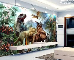 chambre dinosaure papier peint tapisserie spécial dinosaure scène reconstituée les