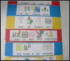 teaching the lord u0027s prayer to non readers layered soul homeschool