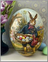 paper mache egg box easter shop herr hase paper mache egg box from germany d blumchen