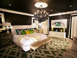 black and white bedroom with a pop of color at nice wall colors
