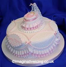 Christmas Cake Frills Decorations by Frills And Filigree Christening Cake For My Granddaughter