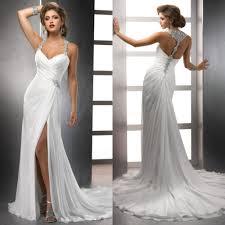 beach wedding dresses halter style