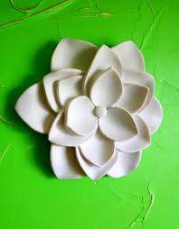 flower 3d wall art lotus wall decor wall hanging white lotus wall