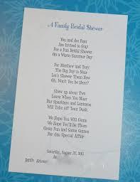 Gift Card Invitation Wording Bridel Shower Poems Writing A Bridal Shower Invitation Poem