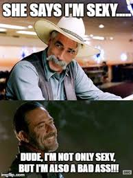 Sam Elliot Meme - sam elliot and jeffrey dean morgan imgflip