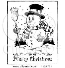 merry christmas black and white clipart china cps