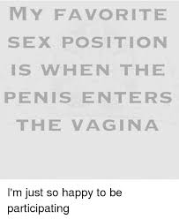 Sex Position Memes - my favorite sex position is when the penis enters the vagina i m