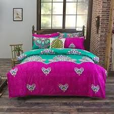 Exotic Comforter Sets Royal Blue And Pink Tribal Paisley Print Exotic Western Style