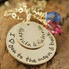 I Love You To The Moon And Back Personalized Necklace Whole Soul Jewelry Personalized I Love You To The Moon And Back