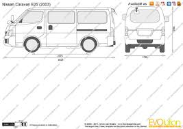 nissan caravan 2011 the blueprints com vector drawing nissan caravan e25