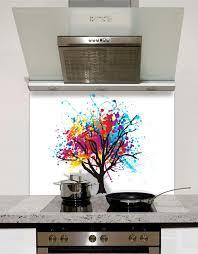 kitchen splashback ideas uk rainbow tree glass splashback
